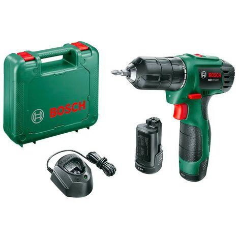 Bosch 06039A210B Atornillador + batería EasyDrill 1200 12V Dos velocidades 11/20Nm Par giro 15+1 Compacto y ligero