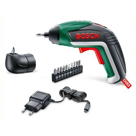 Bosch 06039A8001 Atornillador a batería Ixo V Medium 3,6V 1,5Ah Luz foco y luz difusa 4,5Nm + 10 puntas + cargador USB