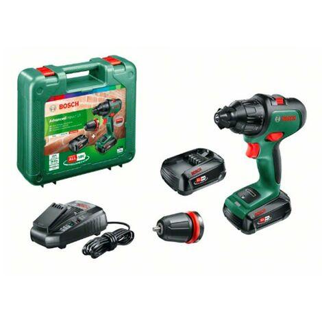 Bosch 06039B5101 Taladro percutor batería AdvancedImpactDrill 18 2 Baterías 18V 2,5Ah Motor brushless Dos velocidades