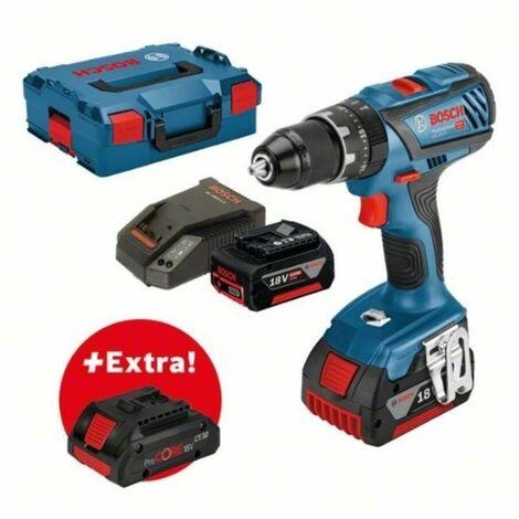 Bosch 0615990K7J Set profesional taladro + atornillador impacto batería GSB 18V-28 + 2 baterías 5,0Ah + ProCORE18V 4,0Ah