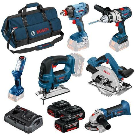 Bosch 0615990K9D 18v 6 Piece Cordless Dynamic Tool Kit - 3 x 4ah Batteries + Bag