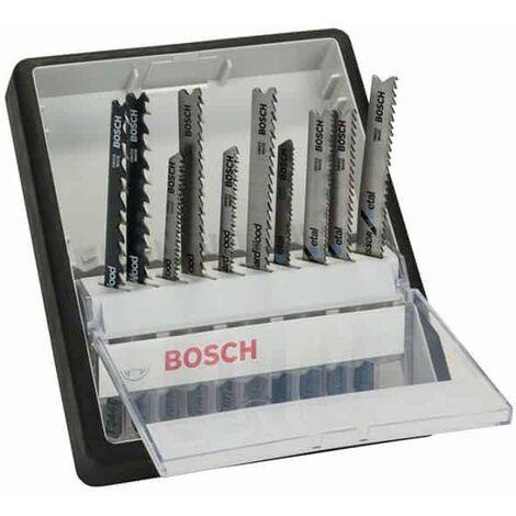 BOSCH 10 lames de scie sauteuse Bois/Métal Robust Line - 2607010542