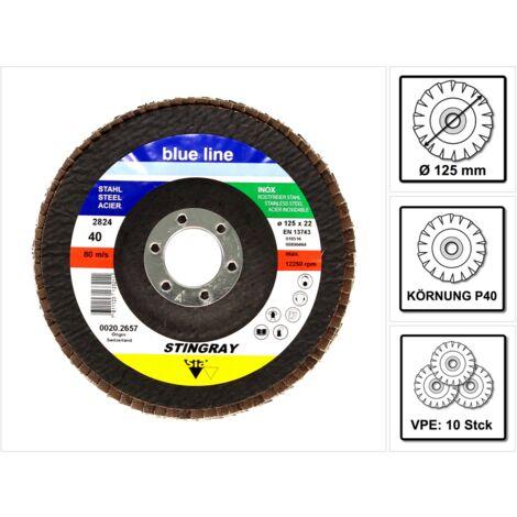 Bosch 10x SIA 2824 Stingray Disco de seguridad dentado P120 Blue Line