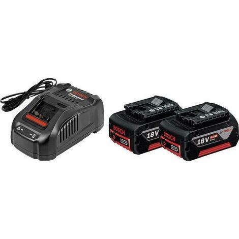 Bosch 1600A00B8J Set de base 2x batterie 5.0Ah + chargeur - GBA 18 Volt 5,0 Ah M-C - GAL 1880 CV