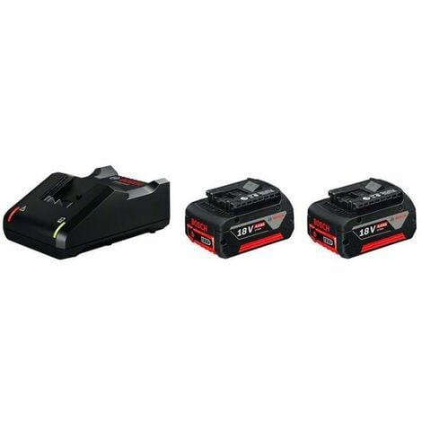 Bosch 1600A019S0 Juego básico 2 GBA 18V 4,0Ah + GAL 18V-40 2 baterías 18V 4,0Ah Caja de cartón