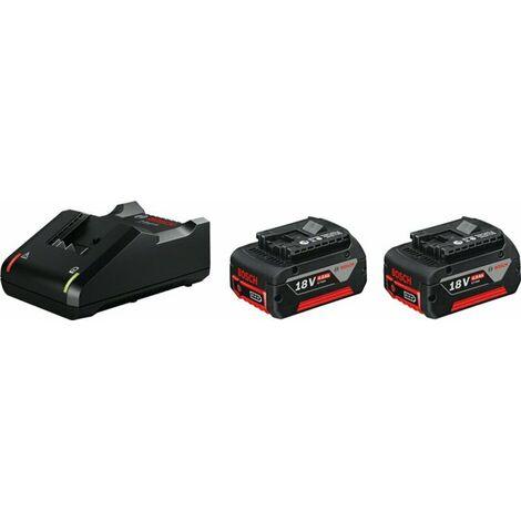 Bosch 1600A019S0 - Set de batterie Li-Ion 18V (2x 4.0Ah) + chargeur