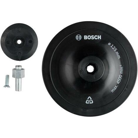 Bosch 1609200240 Plato de goma 125mm para lijado y pulido con taladro
