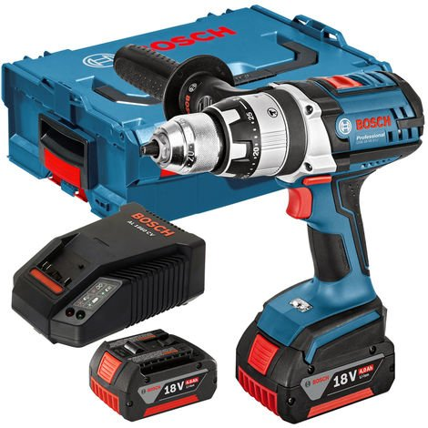 Bosch 18v GSB 18 VE-2-LI Combi Drill 2 x 4.Ah Batteries Charger L-BOXX