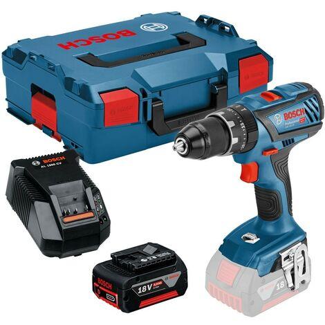 Bosch 18v GSB18 V-28 Professional Combi Hammer Drill Metal Chuck - 1 x 5.0ah