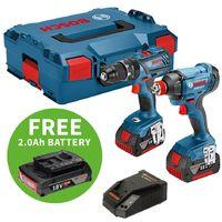 Bosch 18v Twin Pack 4.0Ah Kit