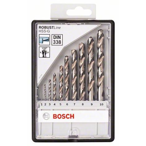 BOSCH 2607010535 HSS-G DIN338: Robustline set 10 uds:1-10