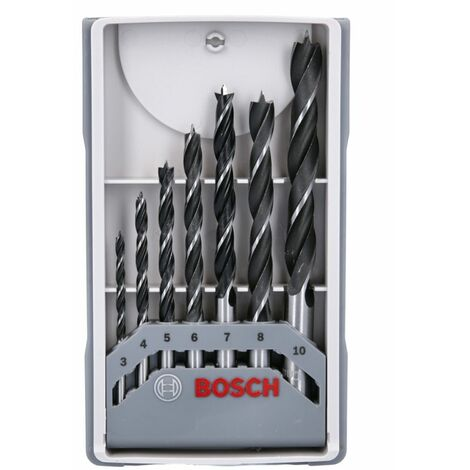 Bosch 2607017034 7 Pieces X-Pro Brad Point Wood Drill Bit Set