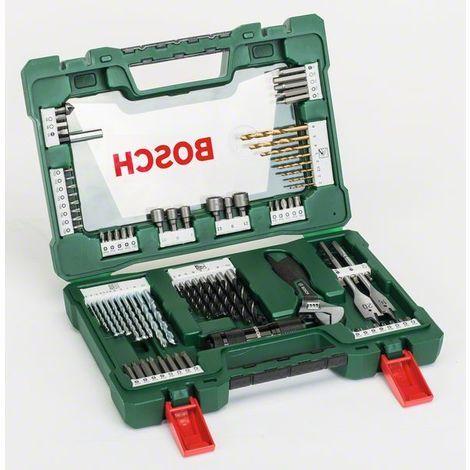 BOSCH 2607017193 Maletín V-Line puntas brocas linterna LED y llave inglesa