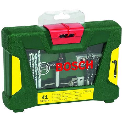 Bosch 2607017316 Maletín V-Line 41 uds para taladrar y atornillar, con portapuntas acodado