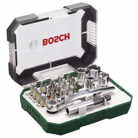 """main image of """"BOSCH 2607017322 Set 26 unidades atornillar, incluye puntas, vasos, carraca"""""""