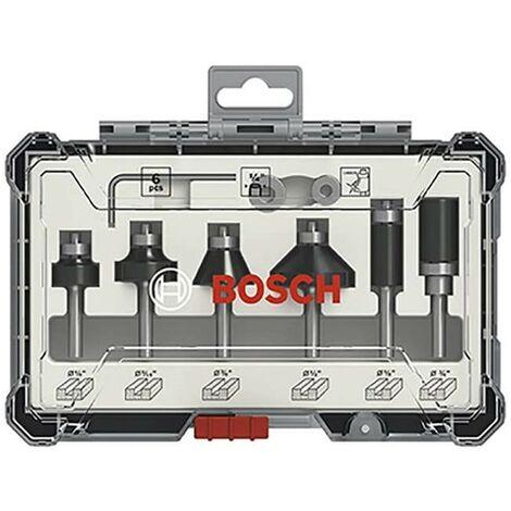 "main image of ""Bosch 2607017470 6 Piece Trim & Edge Router Cutter Set Straight 1/4"" Shank +Case"""