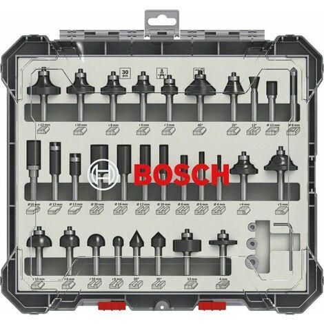 Bosch 2607017474 Juego de brocas fresadoras de 30 unidades - 6mm