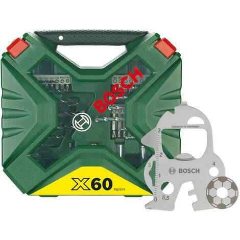 BOSCH 2607017596 Maletín X-line 60 piezas Brocas y puntas atornillado