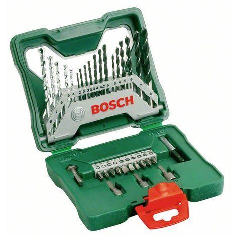 BOSCH 2607019325 Maletín X-Line de 33 piezas, puntas, brocas y llaves de vaso