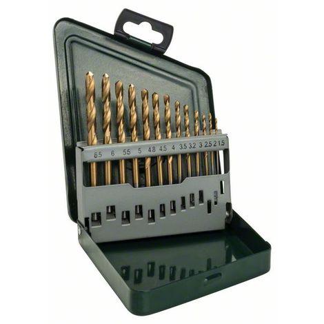 BOSCH 2607019436 Set con 13 brocas HSS-TiN metal