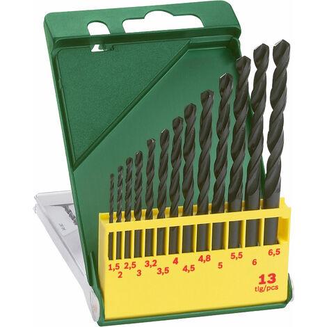 Bosch 2607019441 Twist Drill Set HSS-R DIN 338 Straight Shank 1.5 - 6.5mm 13-pcs