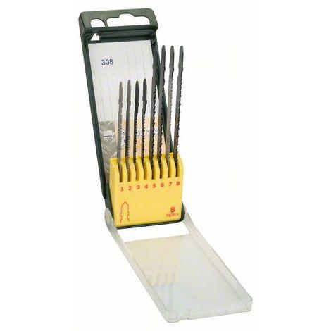 BOSCH 2607019458 Set con 8 hojas de sierra de calar de inserción T