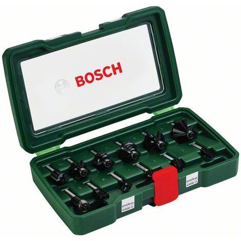 BOSCH 2607019466 Set de 12 fresas con insercción de 8 mm