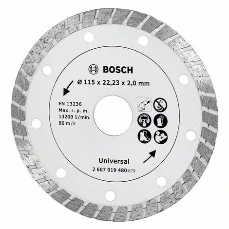 Bosch 2607019480 Disco abrasivo de corte diamante universal Turbo 115mm Promoline