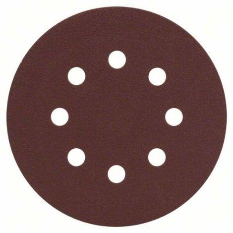 Bosch 2607019494 Set bricolaje 25 hojas de lija 125mm G120 Promoline para lijadoras excéntricas