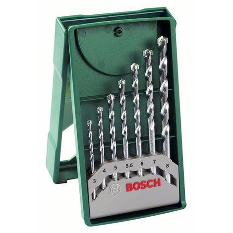 BOSCH 2607019581 Mini X-Line con 7 brocas para piedra