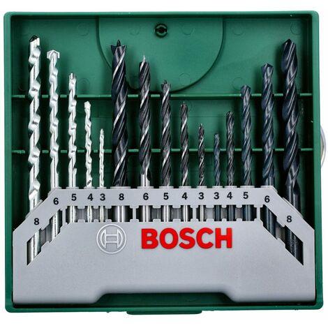 Bosch 2607019675 15 Piece Mixed Mini X-Line Drill Bit Set