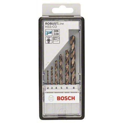 BOSCH 2607019924 HSS-Co DIN338: Robustline set 6 uds: 2-8