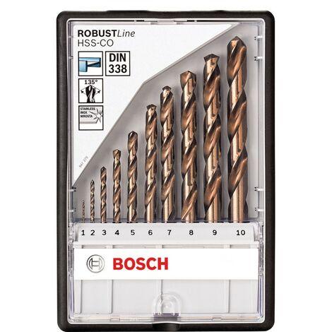 Bosch 2607019925 Metal Drill Bits HSS-Co - 10 Pieces