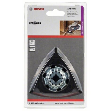 Bosch 2608000493 Accesorio para multiherramientas placa lijadora Starlock AVZ 93 G plato lijador