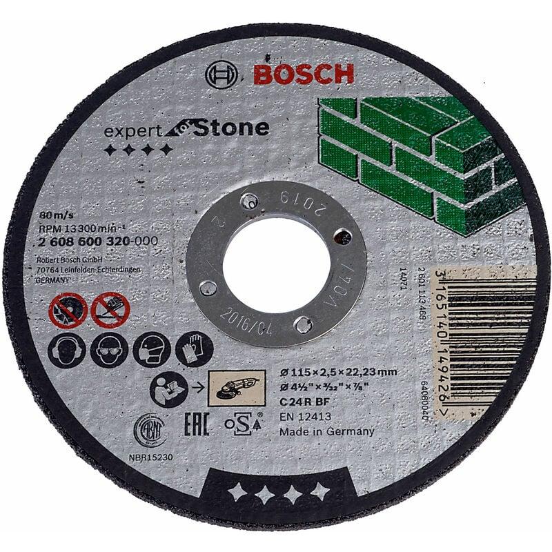 Image of 2608600320 Stone Cutting Disc Flat 115 x 22.2 x 2.5mm - Bosch