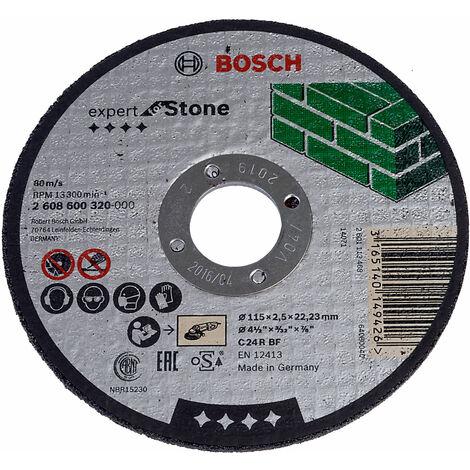 "main image of ""Bosch 2608600320 Stone Cutting Disc Flat 115 x 22.2 x 2.5mm"""