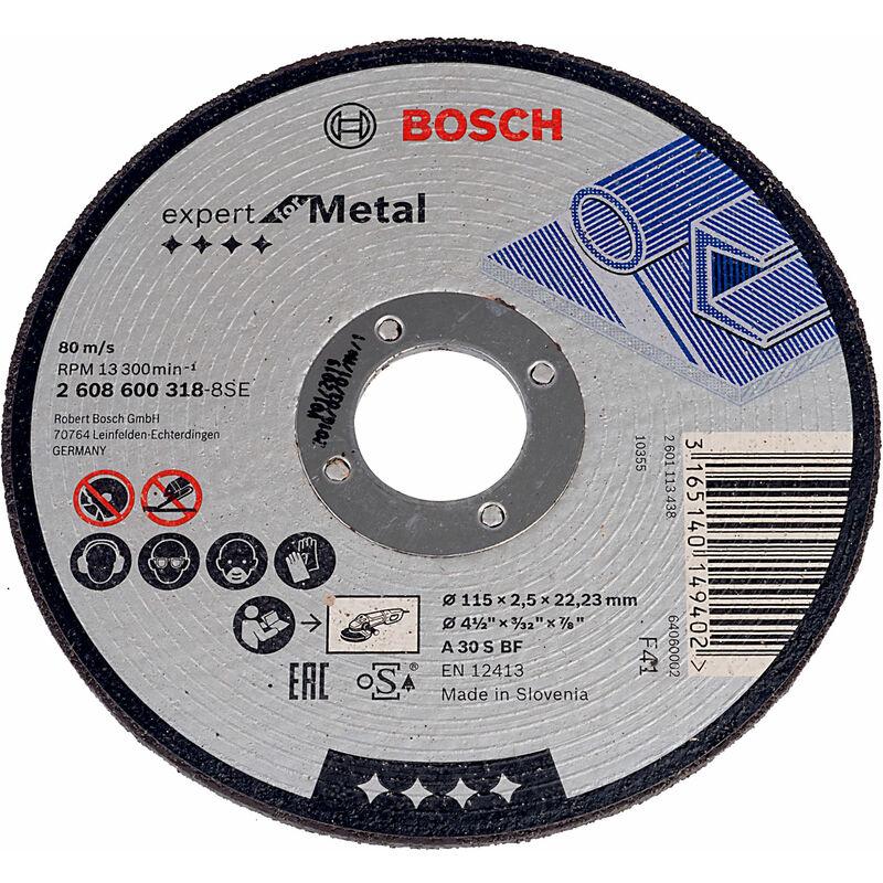 Image of 2608600318 Metal Cutting Disc Flat 115 x 22.2 x 2.5mm - Bosch