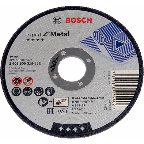 Bosch 2608600649 300 X 3.2 X 22.23Mm Metal Flat Cutting Disc