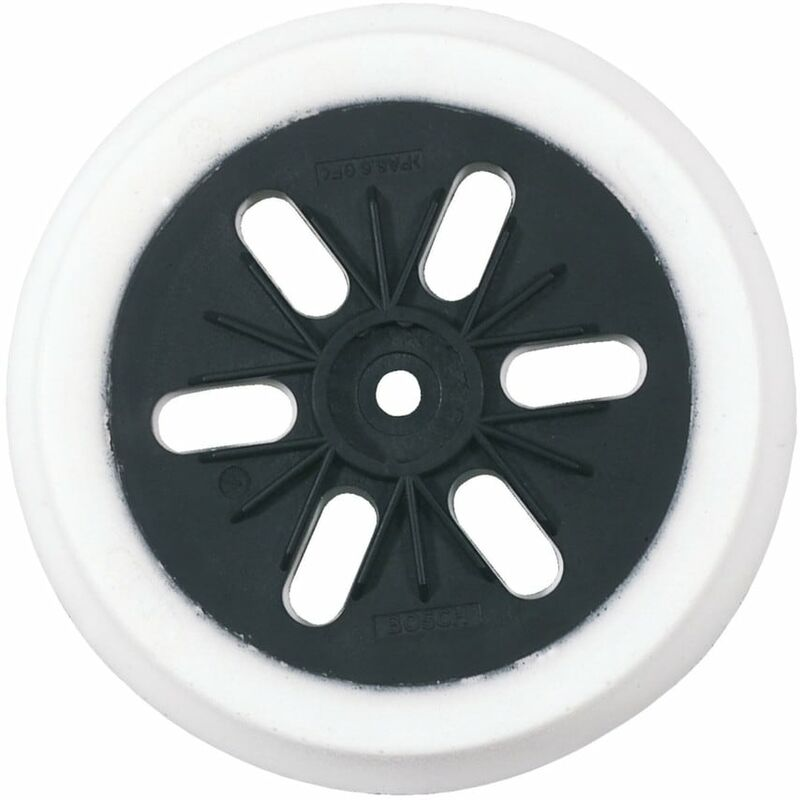 Bosch 150MM Medium Rubber Backing Pad for Use with GEX150 AC/Turbo - 2 608 601 0
