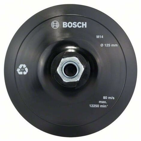 Bosch 2608601077 Plato lijador + velcro para amoladora 125mm