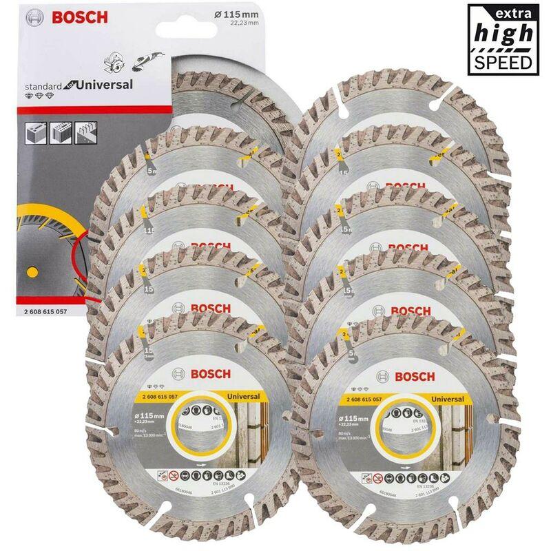 Image of 10 X Bosch Pro Universal Grinder Diamond Blade High Speed 4.5' 115mm x 22mm Bore
