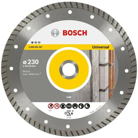 BOSCH 2608602397 Disco diamante Standard Universal Turbo 230x22,23x2,5x10