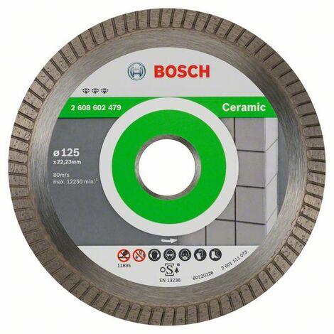 BOSCH 2608602479 Disco diamante Best Ceramic Extra-Clean Turbo 125x22,23x1,4