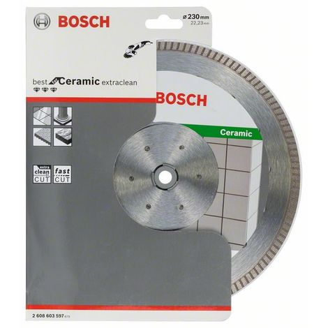 BOSCH 2608603597 Disco diamante Best Ceramic Extra-Clean Turbo 230x22,23x1,8