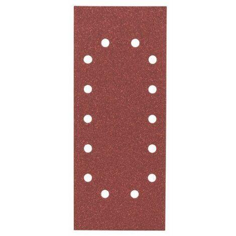 Bosch 2608605343 Feuille abrasive pour ponceuse vibrante 115 x 280 mm 14 Trous Grain 80 10 pièces