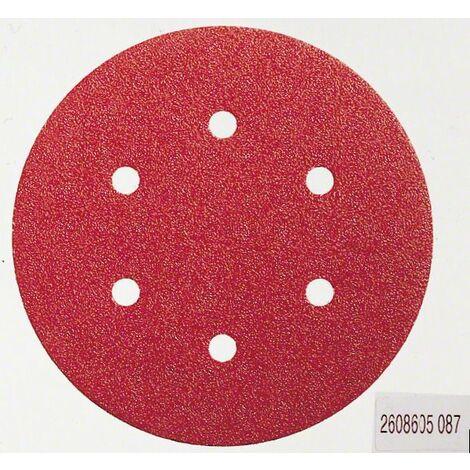 Bosch 2608605721 Hoja de lija para lijadoras excéntricas C430 150mm 8P G180 5 uds