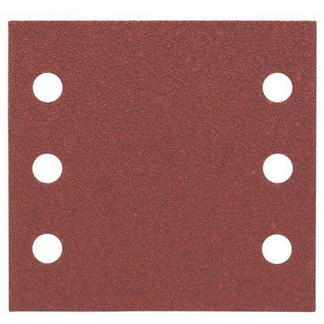 Bosch 2608607456 Feuille abrasif pour ponceuse vibrante 115 x 107 mm Grain 60 10 pièces
