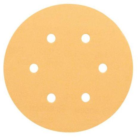 Bosch 2608607838 150Mm P180 5Pce Sanding Discs Wood Velcro 6 Hole