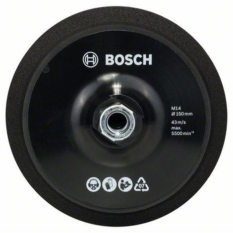 BOSCH 2608612027 Plato de goma M 14, con cardillo Ø 150 mm