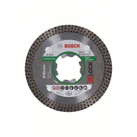 Bosch 2608615133 Disco de corte de diamante X-Lock DrySpeed Best for Hard Ceramic de 85x22/23x1/4x7mm 85x22,23x1,4x7mm